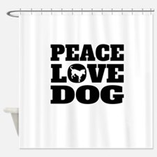 Peace Love Dog Shower Curtain