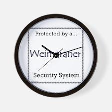 Weimaraner Security Wall Clock