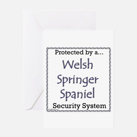 Welsh Springer Security Greeting Card
