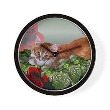 Funny Siberian cat Wall Clock