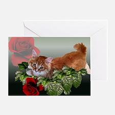 Funny Siberian cat Greeting Card