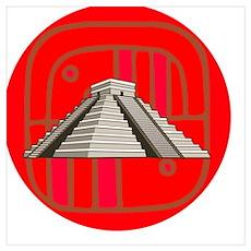 Maya pyramid Poster