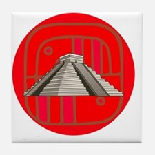 Maya pyramid Tile Coaster