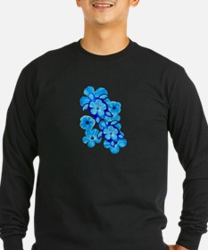 Blue Hibiscus Flowers And Sea Turtles T