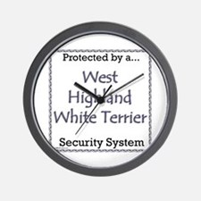 Westie Security Wall Clock