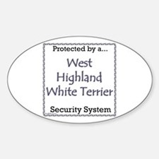 Westie Security Oval Decal