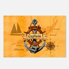 Captain Anchor And Wheel Postcards (Package of 8)