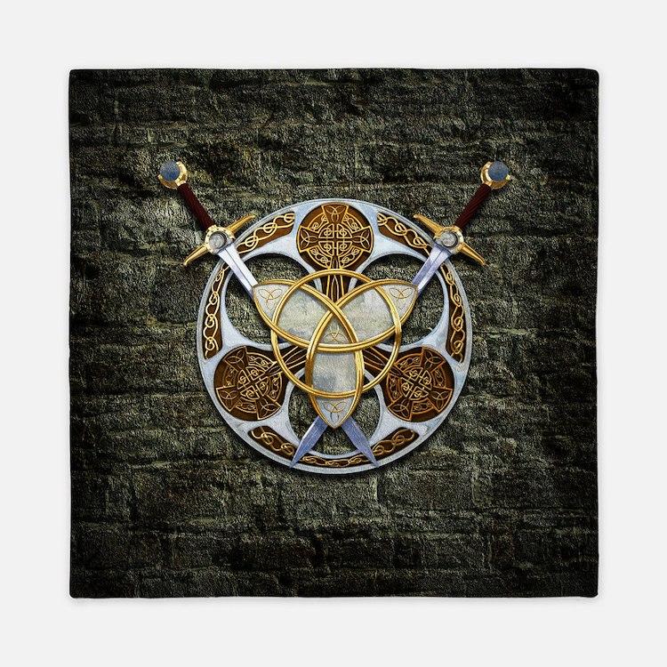 Celtic Shield and Swords Queen Duvet
