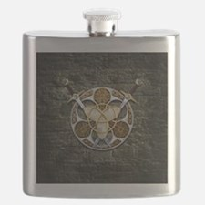 Celtic Shield and Swords Flask