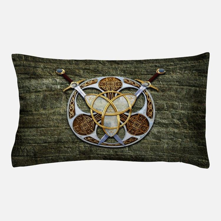 Celtic Shield and Swords Pillow Case