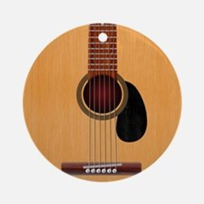 Acoustic Guitar Round Ornament