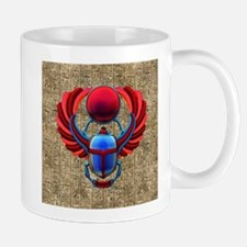 Colorful Egyptian Scarab Mugs