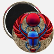Colorful Egyptian Scarab Magnets