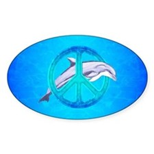 Dolphin Peace Decal