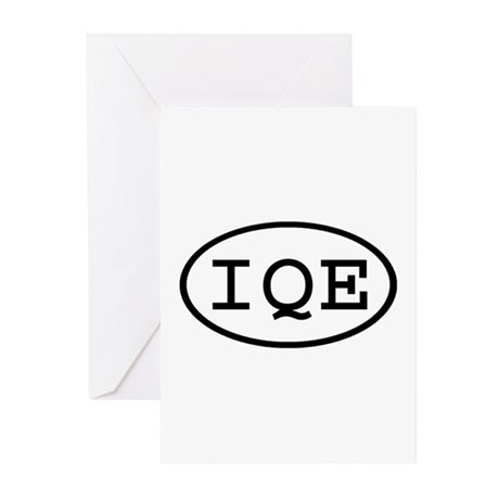 IQE Oval Greeting Cards (Pk of 10)