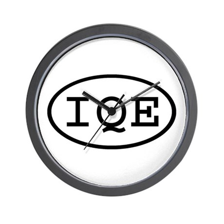 IQE Oval Wall Clock