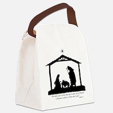 Nativity Scene (Luke 2:11) Canvas Lunch Bag
