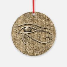 Eye Of Ra Round Ornament