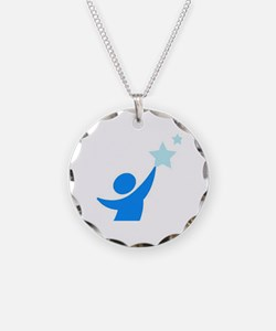 Apraxia awareness  Necklace Circle Charm