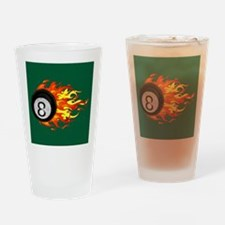 Flaming 8 Ball Drinking Glass