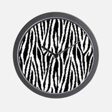 8 Bit Pixel Zebra Print Design Pattern Wall Clock