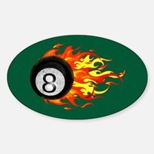 Flaming 8 Ball Decal