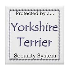 Yorkie Security Tile Coaster
