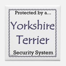 Yorkie Security Tile Coaster