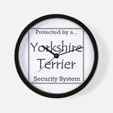 Yorkie Security Wall Clock