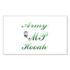 army mp hooah Rectangle Decal