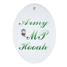 army mp hooah Oval Ornament