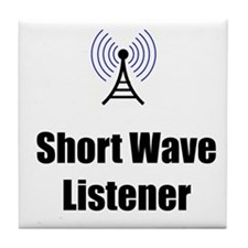 Short Wave Listener Tile Coaster