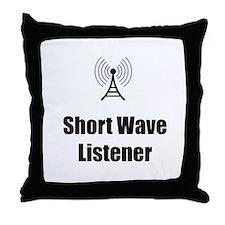 Short Wave Listener Throw Pillow