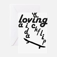 loving la vida kickflip Greeting Card