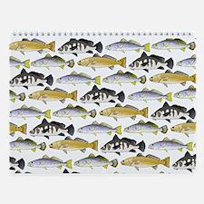 Ocean Fish Pattern 4 Wall Calendar