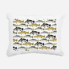 Seatrout and Drum Pattern Rectangular Canvas Pillo