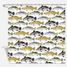 Seatrout and Drum Pattern Shower Curtain