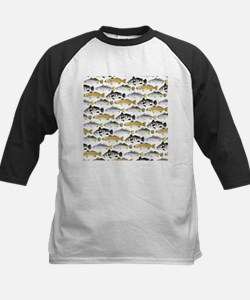 Seatrout and Drum Pattern Baseball Jersey