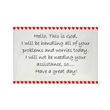 Hello, This is God... Rectangle Magnet (10 pack)