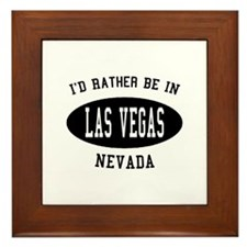 I'd Rather Be in Las Vegas, N Framed Tile