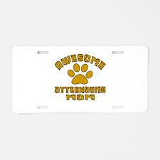 Awesome Otterhound Mom Dog Aluminum License Plate