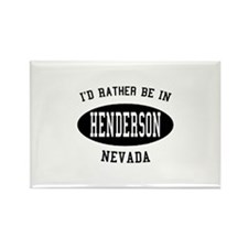 I'd Rather Be in Henderson, N Rectangle Magnet