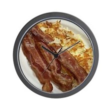 Bacon And Hash Browns Wall Clock