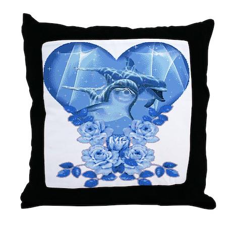 Dolphin Hearts Throw Pillow