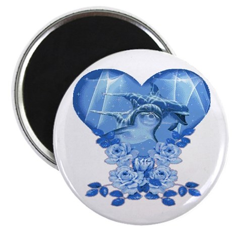 Dolphin Hearts Magnet