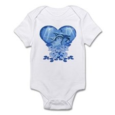 Dolphin Hearts Infant Bodysuit