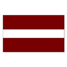 Latvian Flag Rectangle Decal