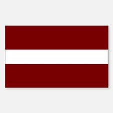 Latvian Flag Rectangle Decal