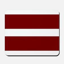 Latvian Flag Mousepad