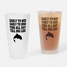 Fish All Day Tell Big Lies Drinking Glass